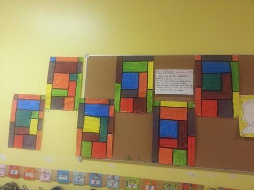 Mondrian: des couleurs primaires aux secondaires