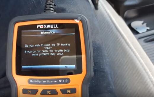 Honda Throttle Body TPS Reset using Foxwell NT510 - obd365