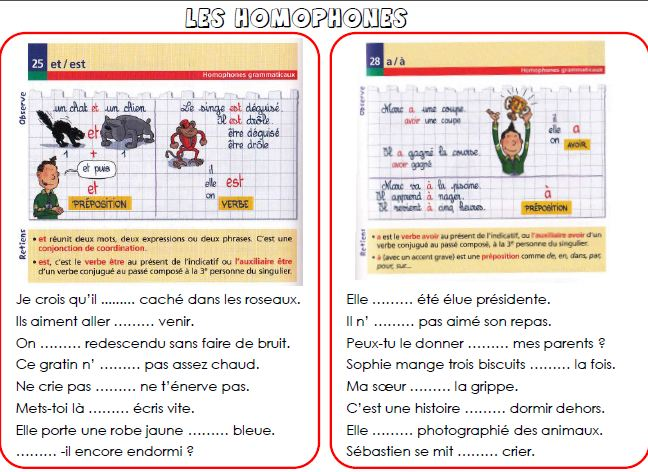 Orthographe 6p harmos page 3 ma kresse d 39 appui for Dans homophone