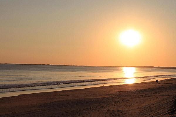 coucher de soleil sur Bonne Anse depuis la Grande Côte