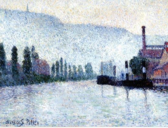 Albert Dubois-Pillet, La Seine et les collines à Canteleu