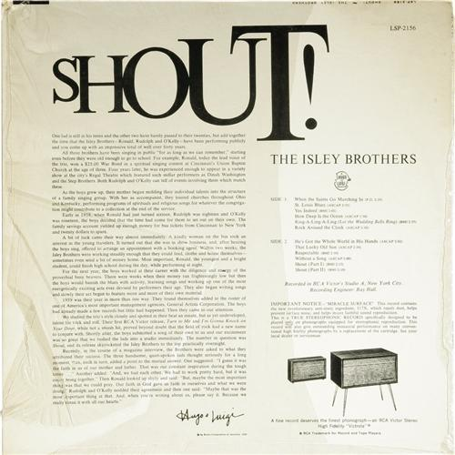 "The Isley Brothers : Album "" Shout ! "" RCA Victor Records LSP 2156 [ US ]"