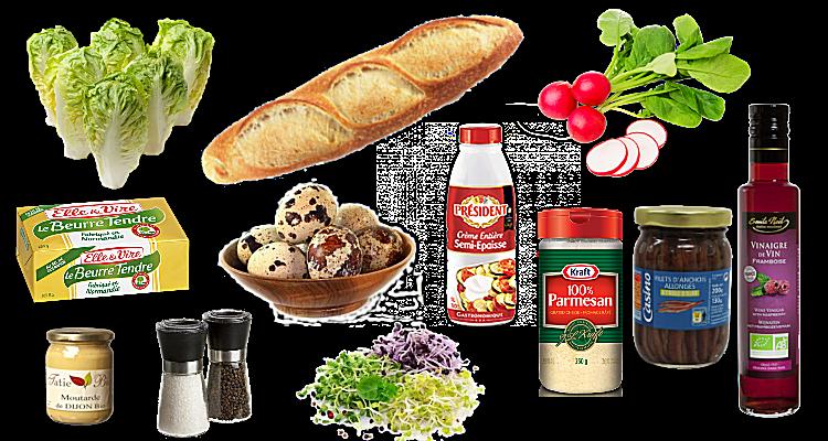 Salade façon César