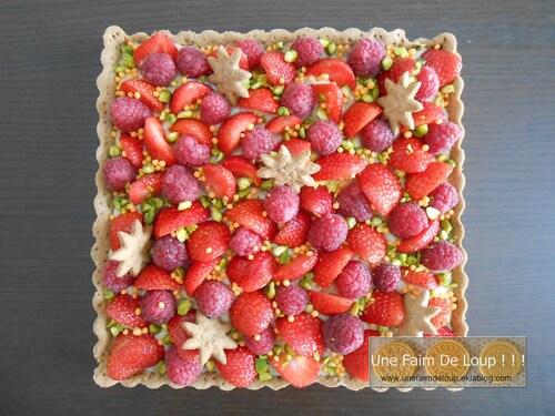 Tarte aux fraises & framboise