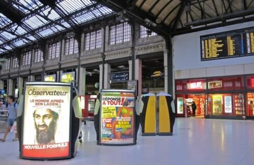 affiche Ben Laden gare de Lyon