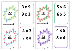 Jeu de cartes : les tables de multiplication