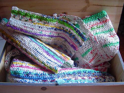 Des sacs en plastique recyclés... en sacs !