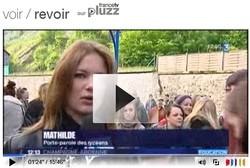 Le sit-in a fait la une des JT de France 3