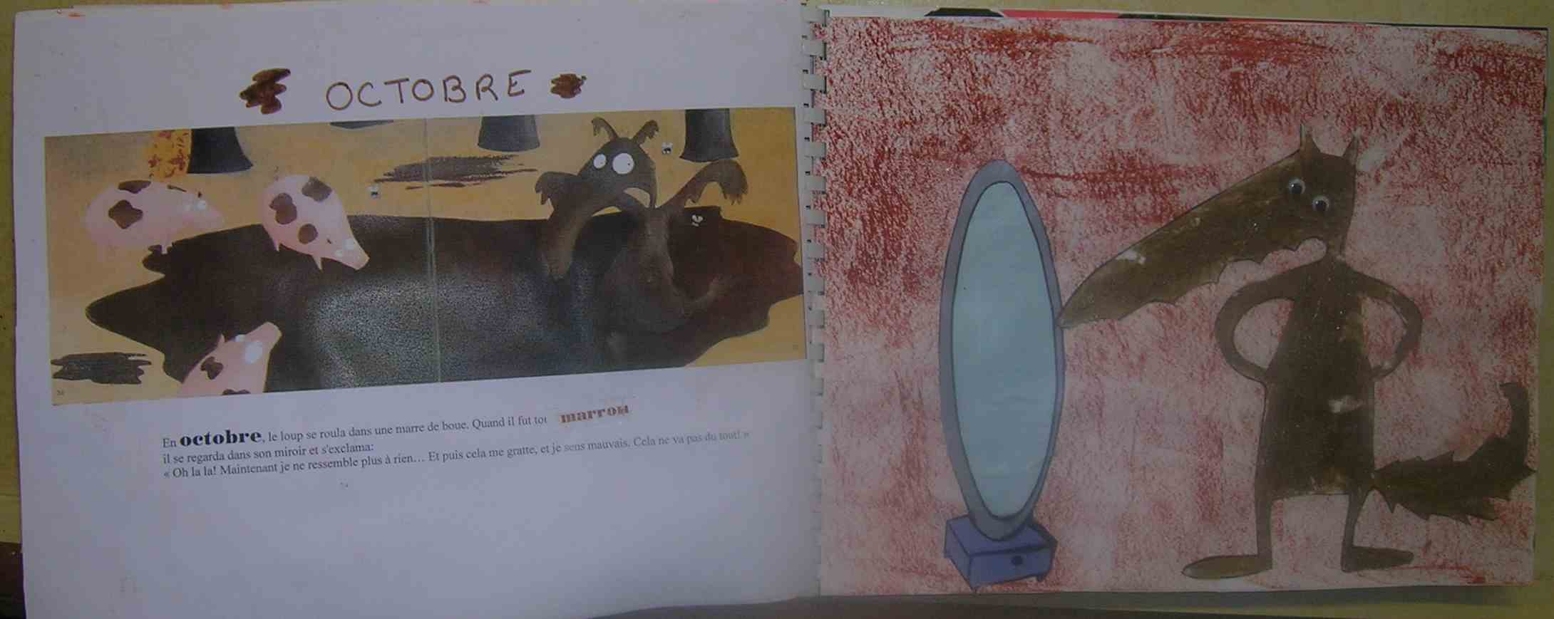coloriage le loup qui ne voulait plus marcher