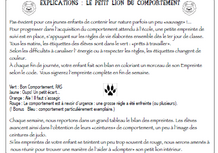 Le roi du bon comportement, mot parents, explications