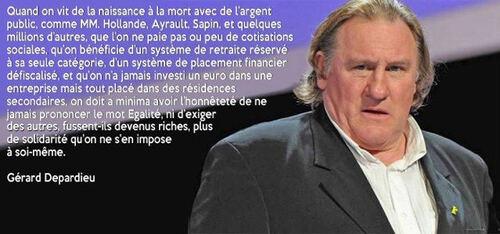 Depardieu écrit à J-M Ayrault