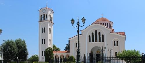 Eglise de Nea Makri en Grèce (extérieur)