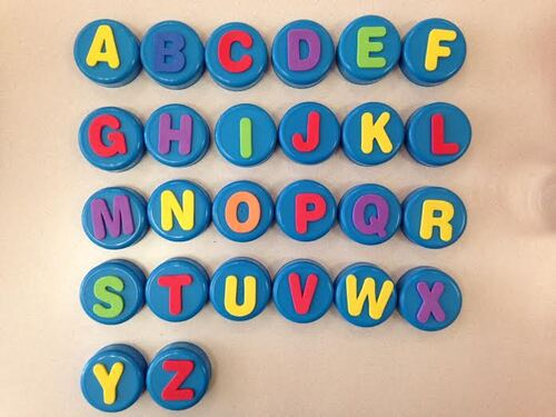 Le même jeu mais avec des lettres!