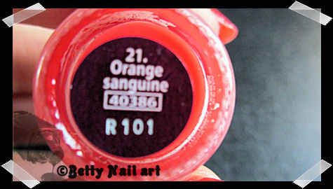 Swatch orange sanguine yves rocher