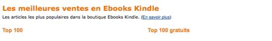 meilleures ventes ebooks gratuits