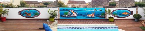Mur bord de piscine à Puisserguier 20m x 1m50. Merci pour votre accueil et pour la confiance faites en mon travail.