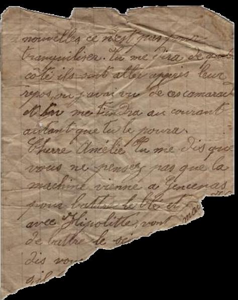 Génération III - Claudy Boucher, lettre du front