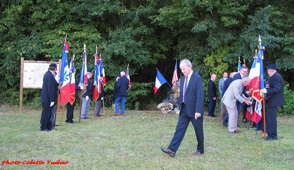 Une cérémonie à Villotte en mémoire de la bataille du pont de Maisey, par René Drappier