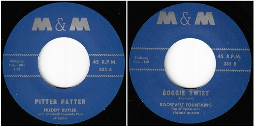 FREDDY BUTLER - SINGLE M&M RECORDS - 1963