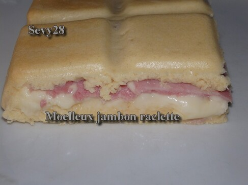 Moelleux jambon raclette (thermomix)
