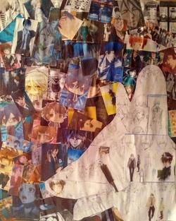 Collage et geisha