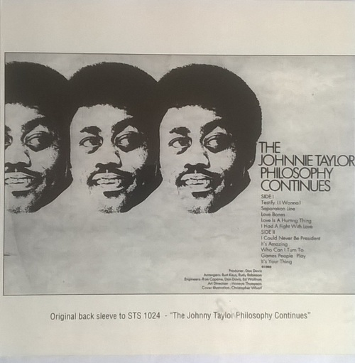 "Johnnie Taylor : Album "" The Johnnie Taylor Philosophy Continues "" Stax Records STS 2023 [ US ]"
