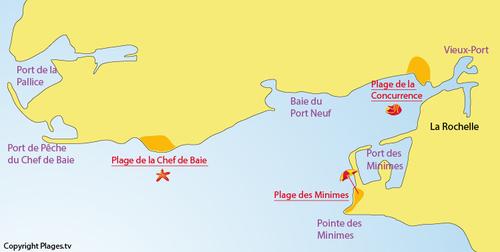 La Rochelle : la plage Chef de Baie