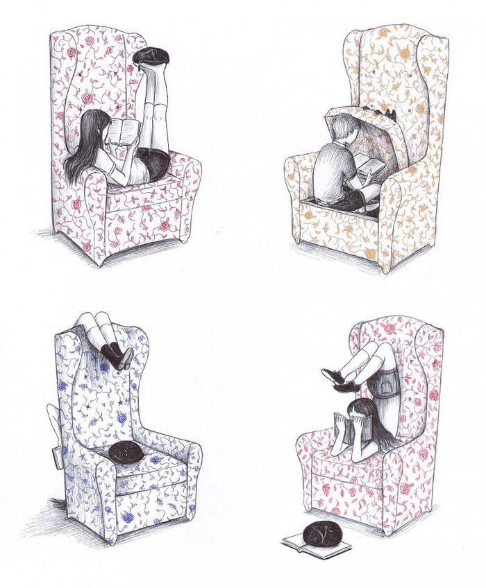 Les Illustrations humoristiques mélancoliques et surréalistes de Virginia Mori.