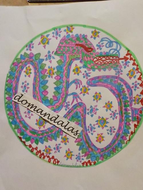 DOMANDALAS mandala du serpent création personnelle