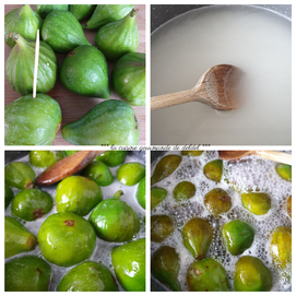 FIGUES BLANCHES CONFITES AU SIROP