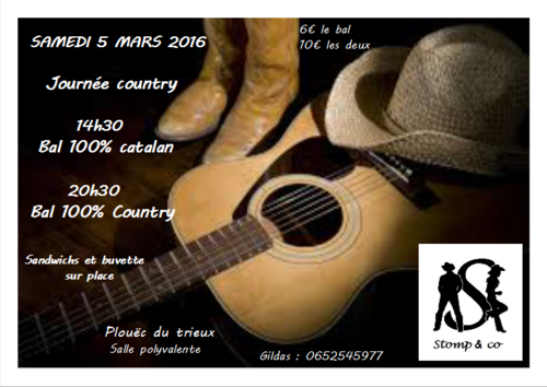 Bals country :  5 MARS 2016!!!!