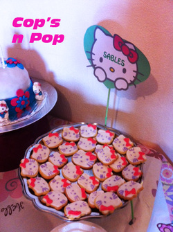 Anniversaire thème Hello kitty...La sweet table!