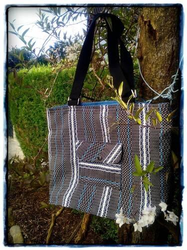 Coudre un Xème sac shopping en tissu basque (Tissage de Luz)