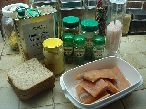 Pavés de Saumon en Croûte de Moutarde