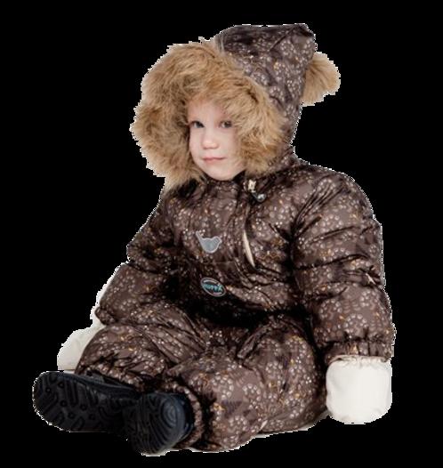Enfants vétus en tenues hivernale