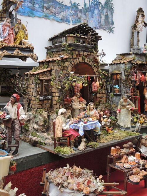 La rue des crèches à Naples