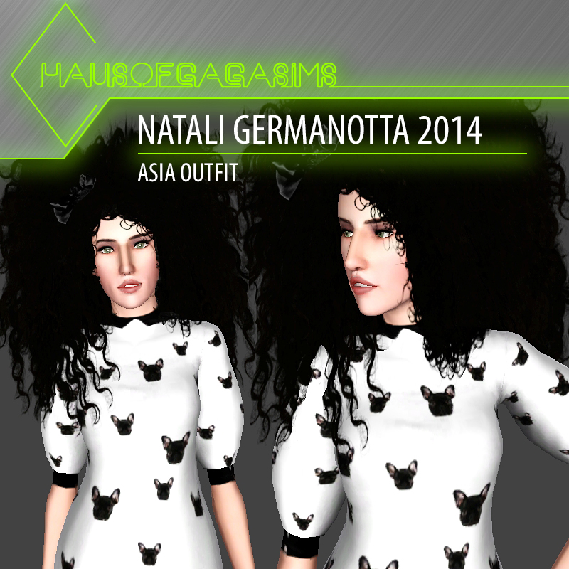 NATALI GERMANOTTA 2014 ASIA OUTFIT