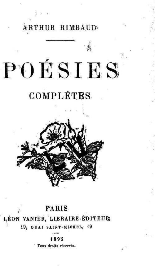 20 Octobre 1854 : naissance d'Arthur Rimbaud