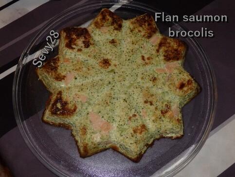Flan de brocolis au saumon fumé et coriandre (thermomix)