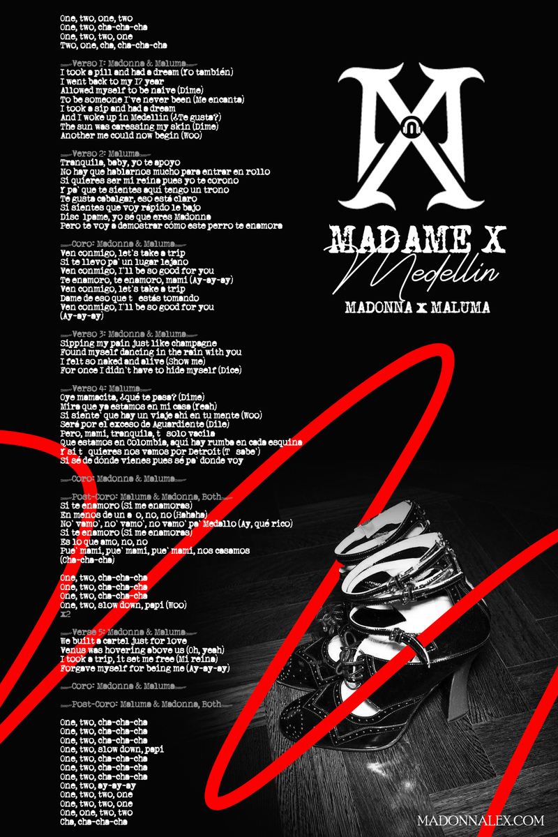 Madonna - Medellin Lyrics (from Madame X album)