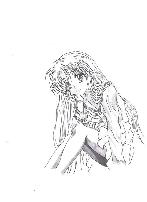 fille pose