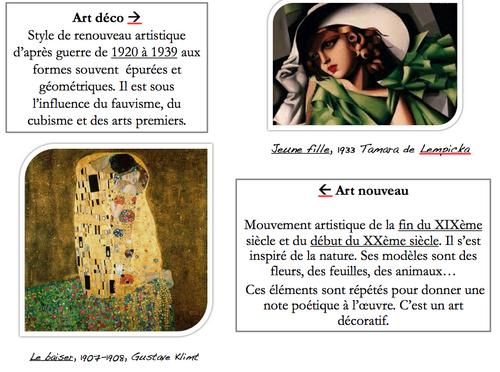 Petit dictionnaire des principaux mouvements artistiques