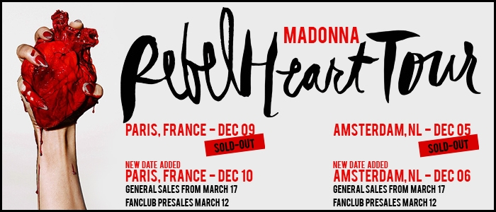 Paris Amsterdam new dates added