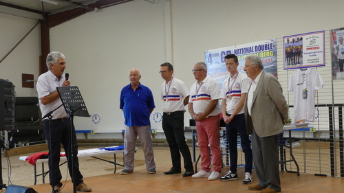RÉCEPTION par la MAIRIE  pour nos  CHAMPION DE FRANCE Doublette