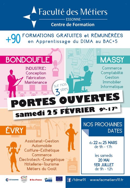 Journée Portes Ouvertes à la Faculté des Métiers de l'Essonne