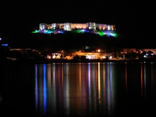 Fort de Kélobia de nuit