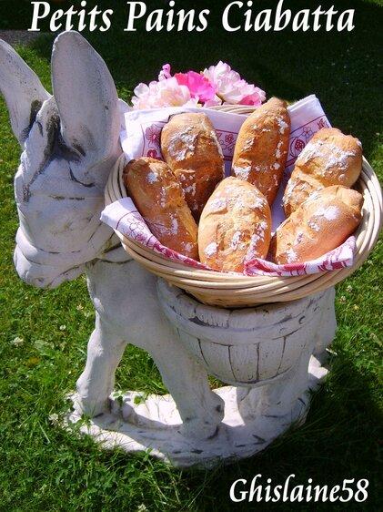 Petits pains Ciabatta