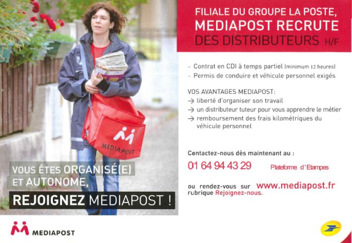 Médiapost Recrute des Distributeurs