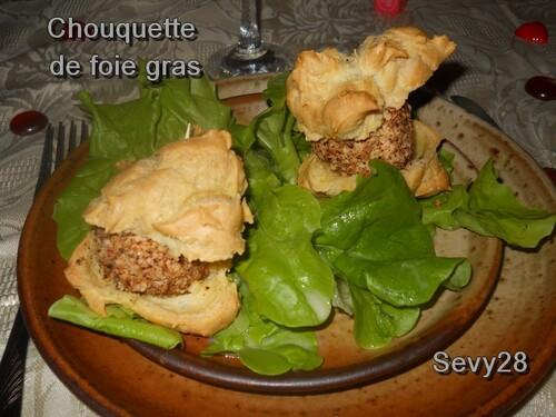 Chouquettes de foie gras