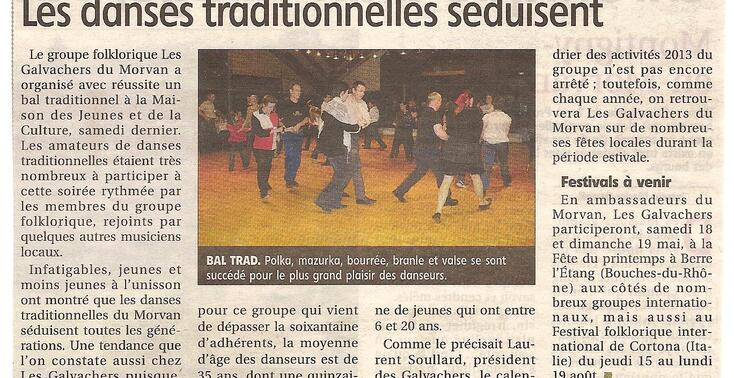 Bal traditionnel des Galvachers - extrait du JDC du 23 avril 2013